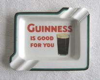 "Guinness ""Is Good For You"" Art Deco advertising ceramic ashtray by Wiltshaw & Robinson"